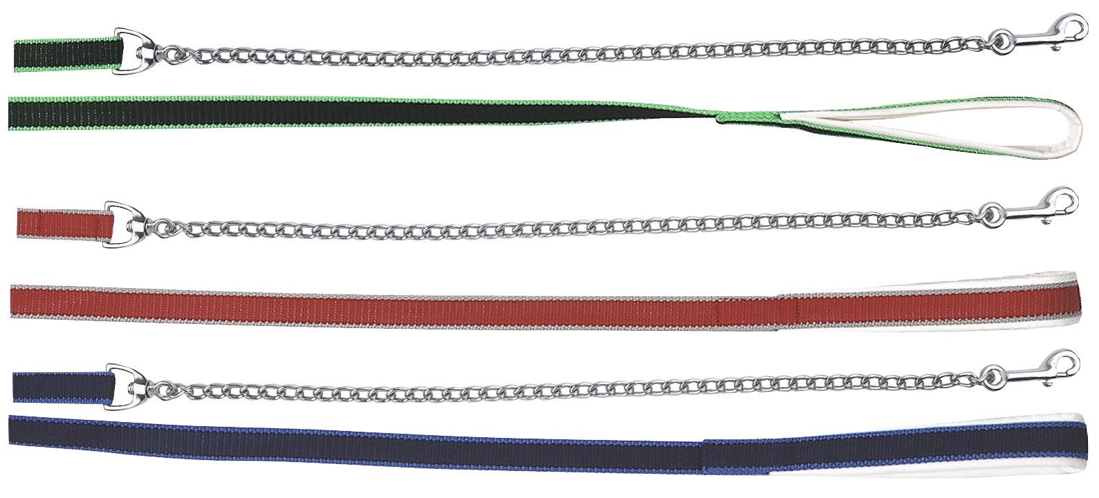 Voorbrenglijn+ketting musketon Blauw