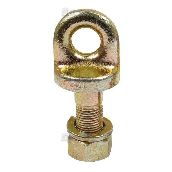 Oogbout met moer en ring, Oog Ø: 16mm.