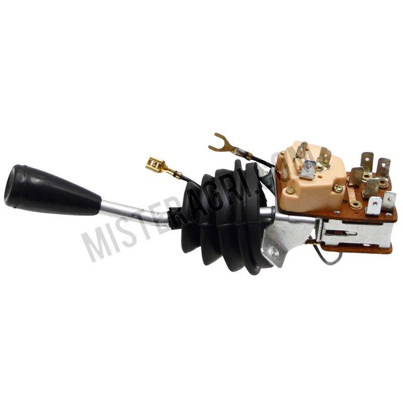 Combischakelaar - hendel gebogen, dubbel circuit