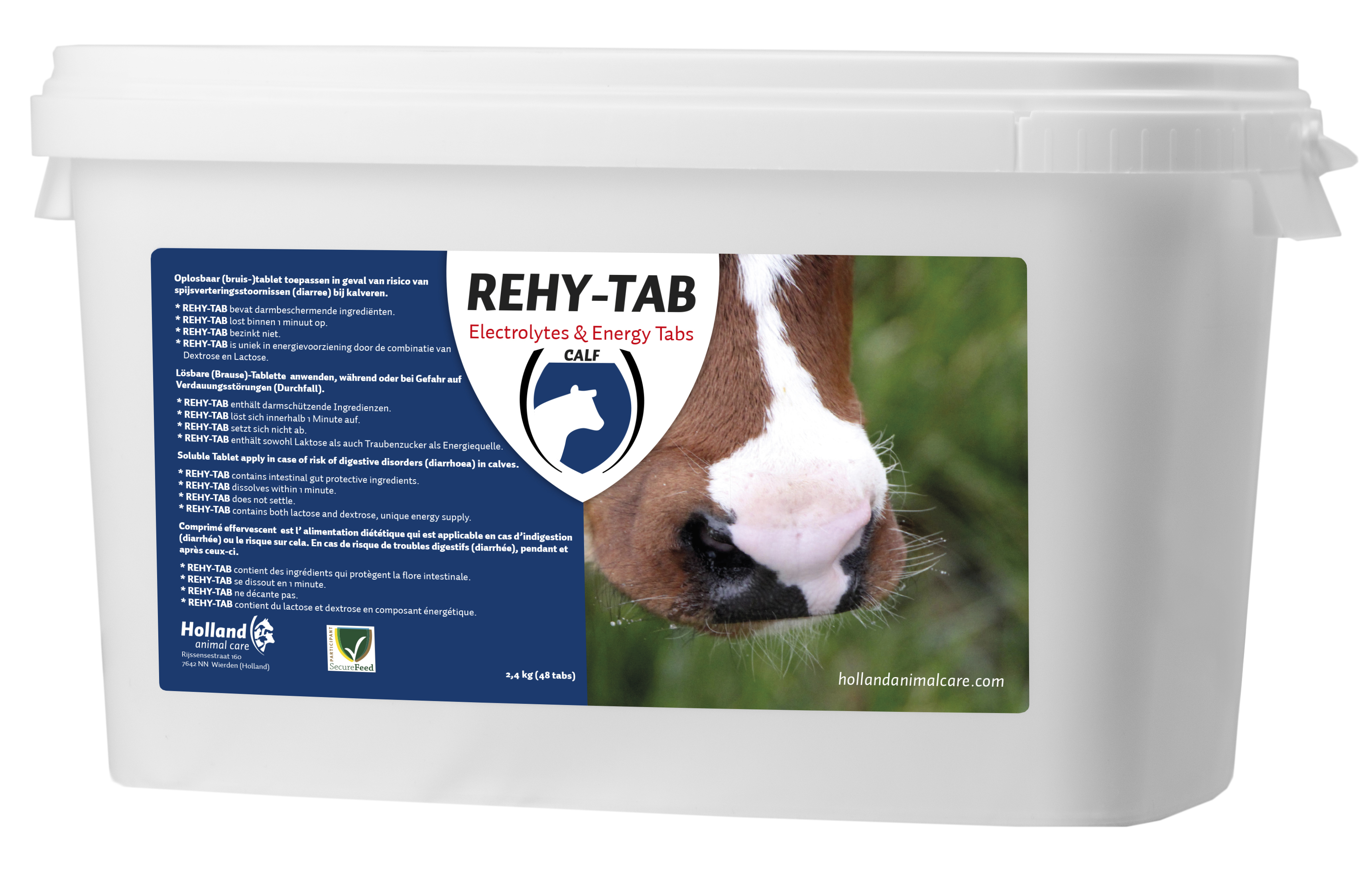 Rehy-Tab (Bruistablet kalverdiarree) 48 tabl