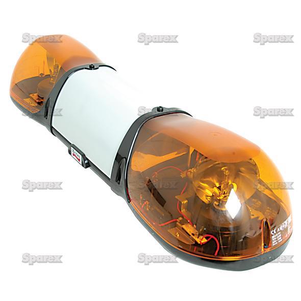 Zwaailichtbalk - Halogen - Bolt On, Lengte: 750mm, Voltage: 24V.