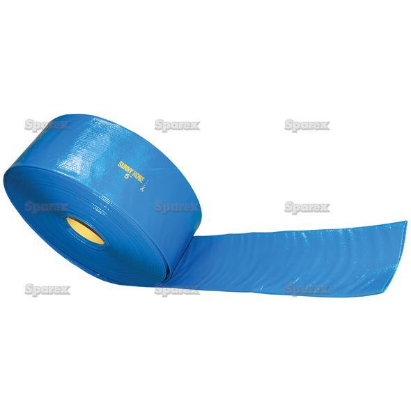 Platte gierslang 102mm (4'') - 5 meter