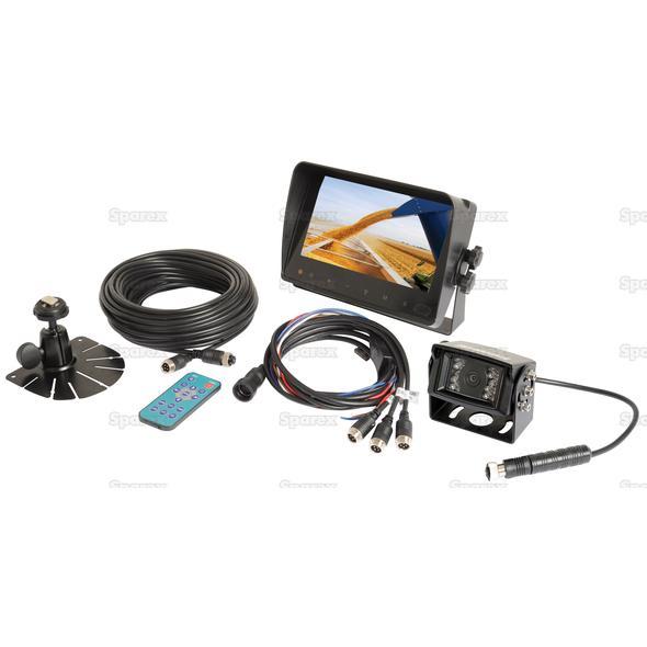 Achteruitrij camera systeem met bedrading en 7'' LCD Monitor & 1 Camera