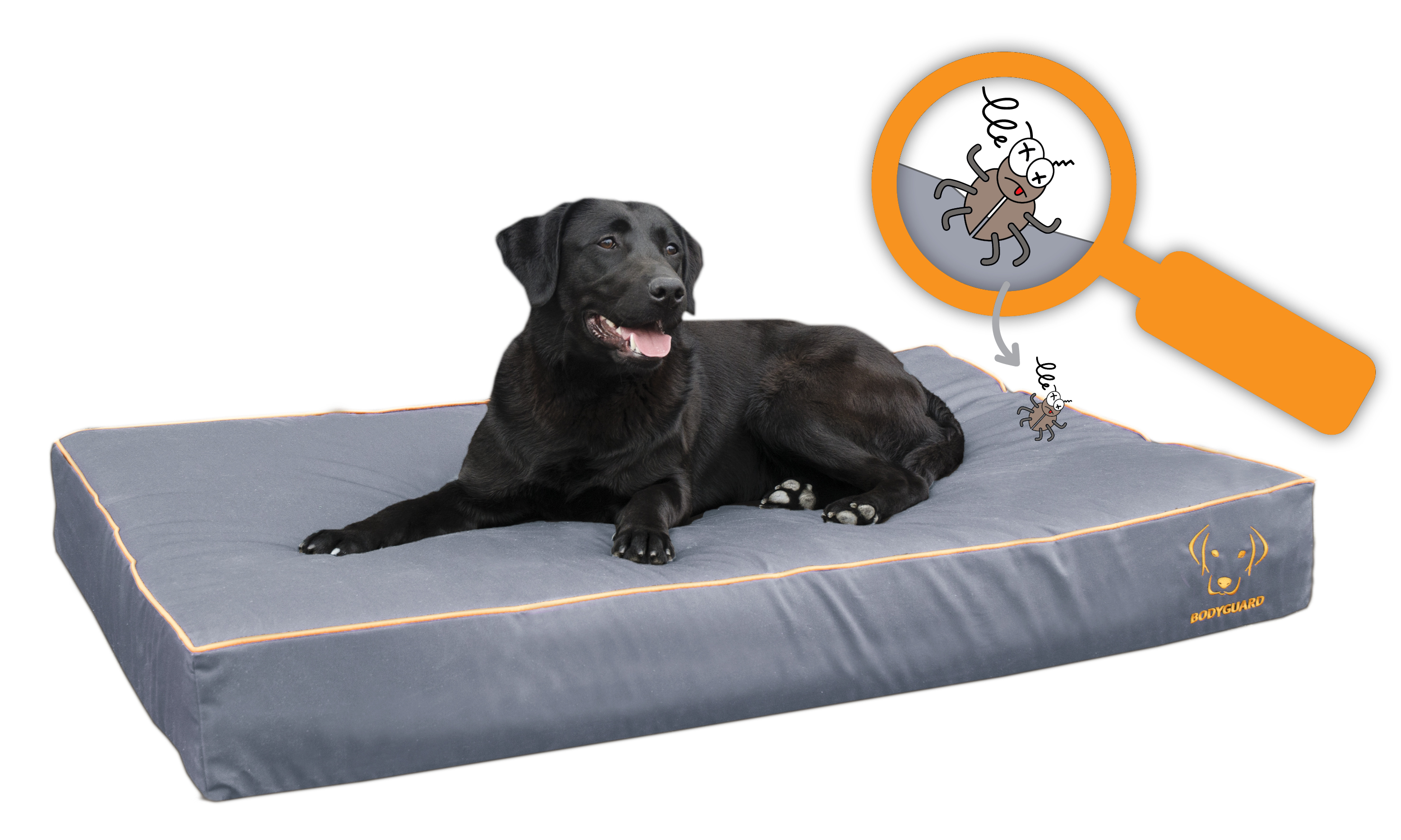 Bodyguard ROYAL bed Grijs 65x50cm