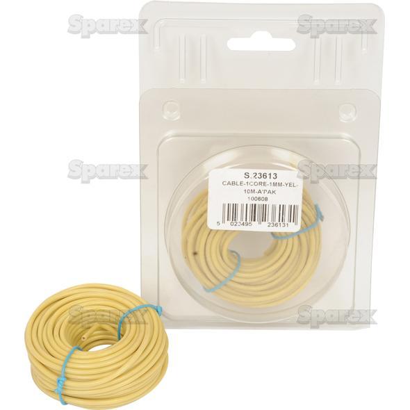 Elektrische kabel 1x1mm GEEL 10m AGRIPAK
