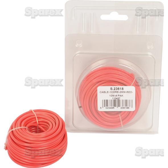 Elektrische kabel 1x2mm ROOD 10m AGRIPAK