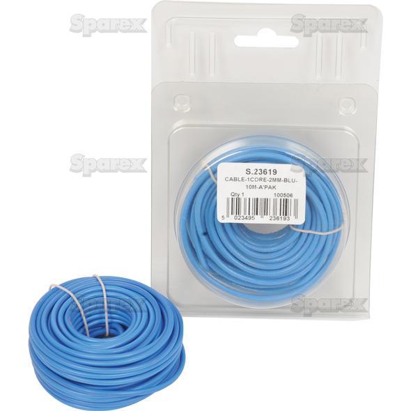 Elektrische kabel 1x2mm BLAUW 10m AGRIPAK