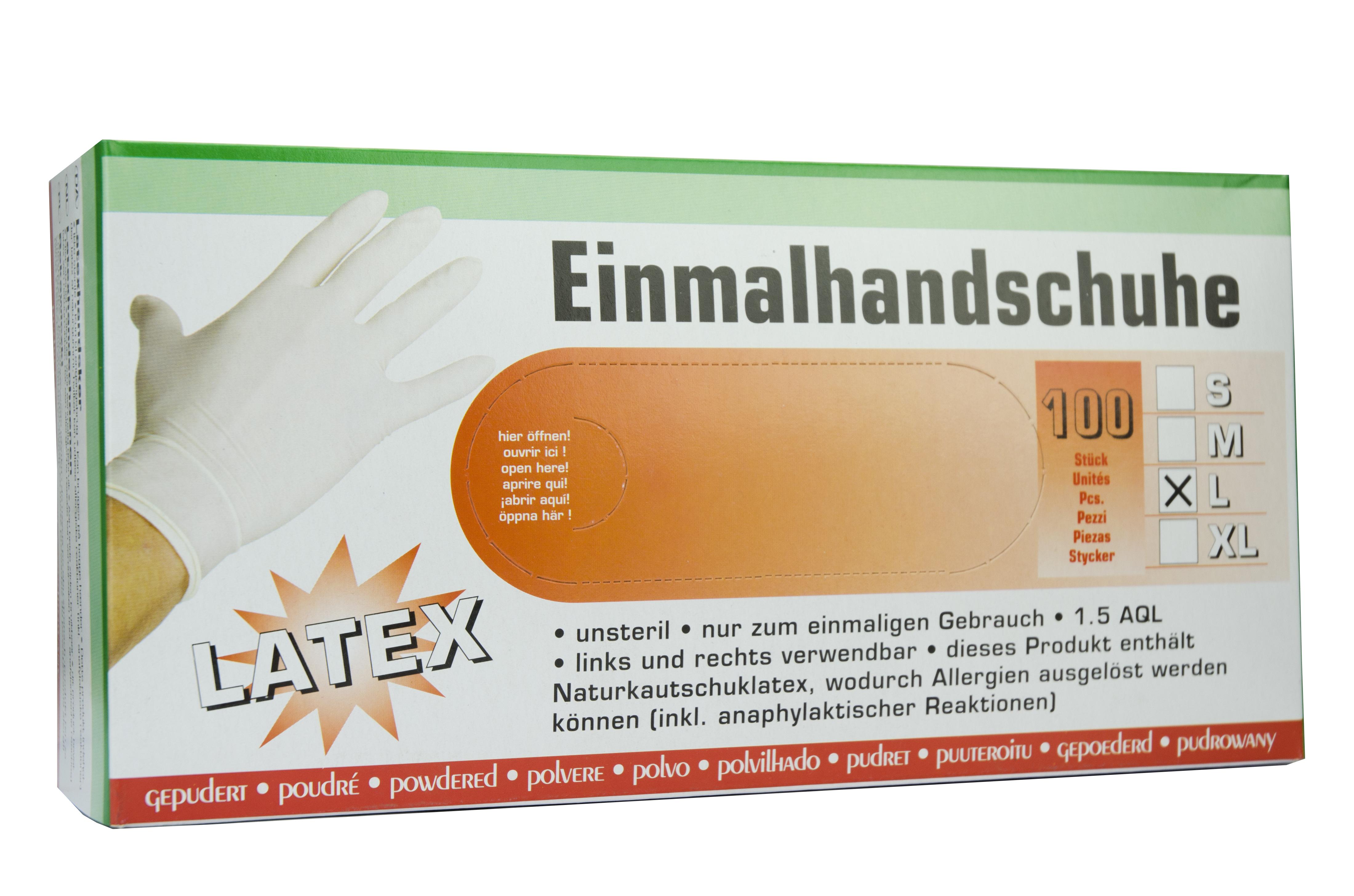 Handschoenen Latex large