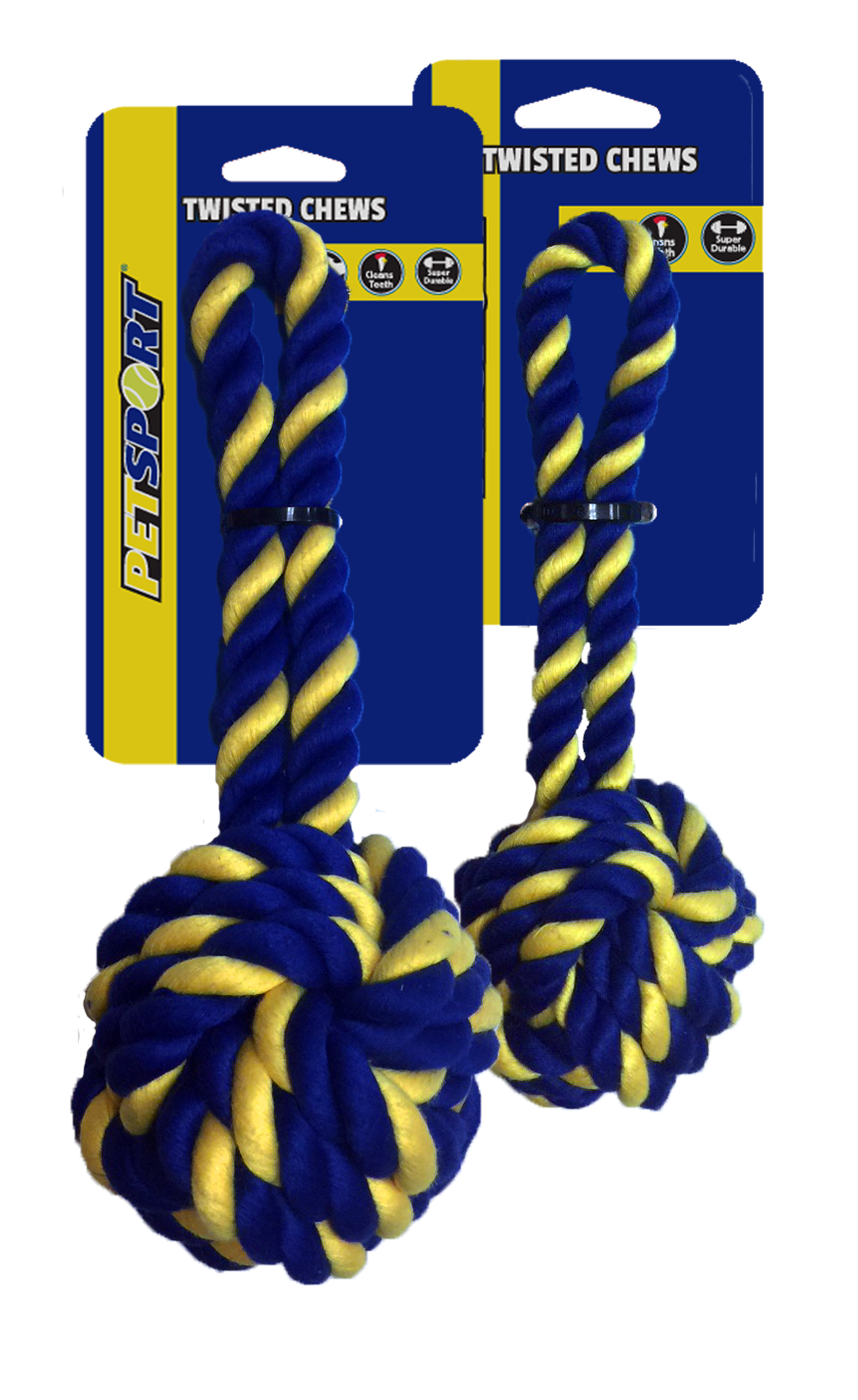 Braided Cotton Rope 18 cm Monkey Fist Small