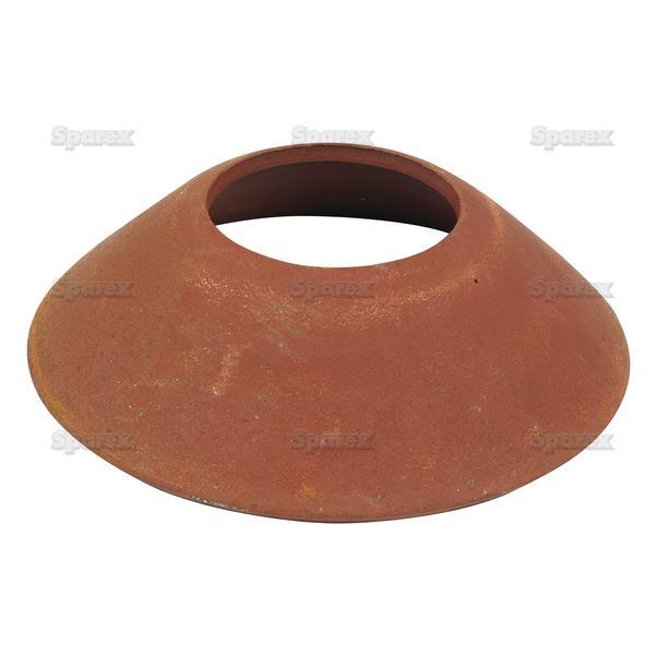 Cup voor koppelingsas, ID: (A) 50mm, OD: (B) 125mm.