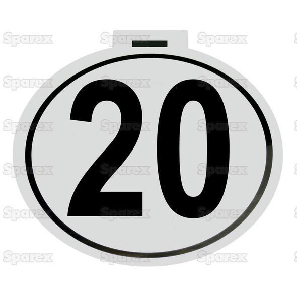 Kilometer Sticker 20 Km/h