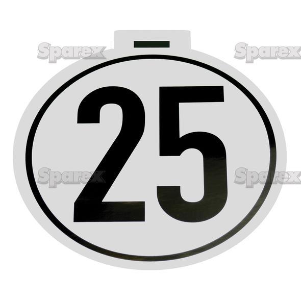 Kilometer Sticker 25 Km/h