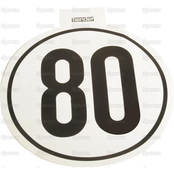 Kilometer Sticker 80 Km/h