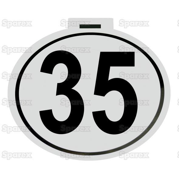 Kilometer Sticker 35km/h