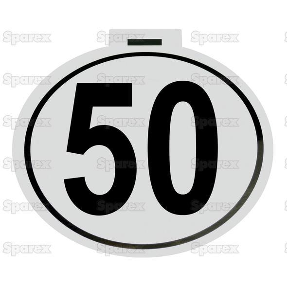 Kilometer Sticker 50 Km/h