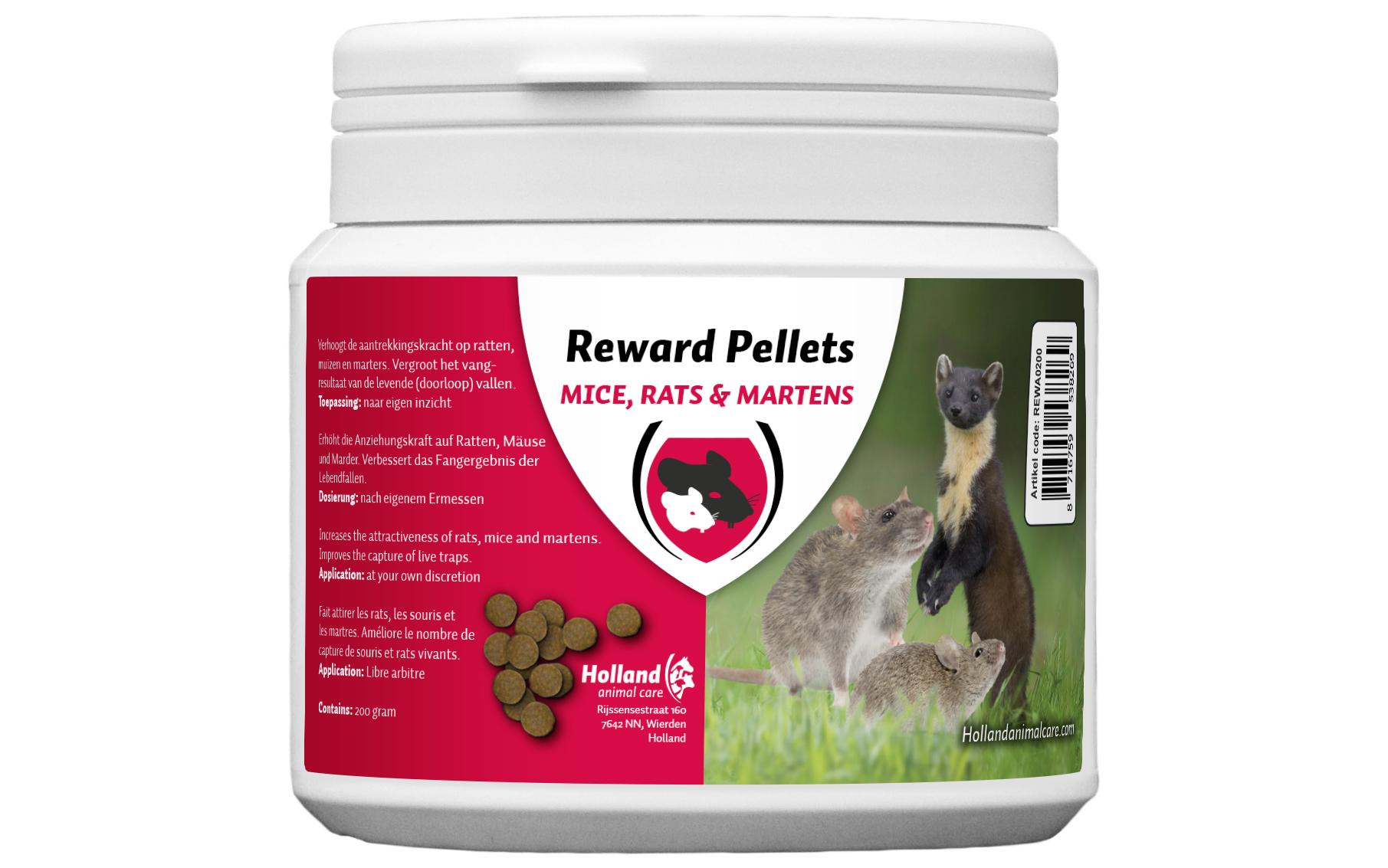 Reward pellets for muizen, ratten & marters