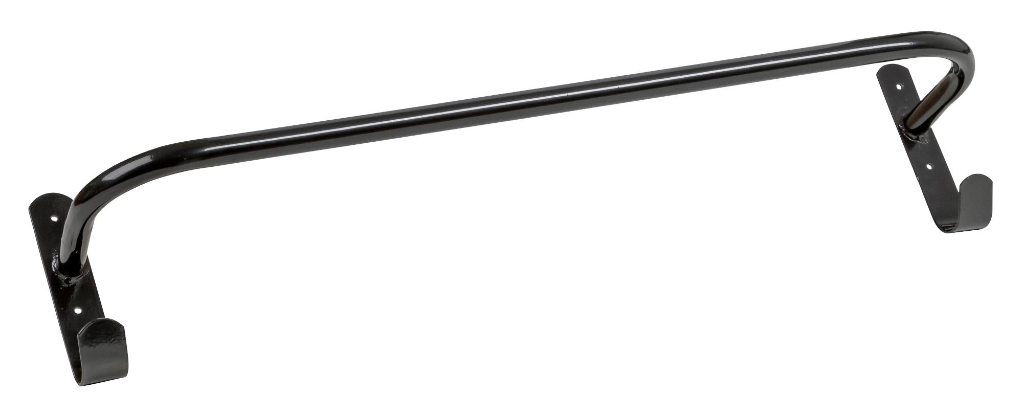 Dekenhouder metaal (gepoedercoat) zwart