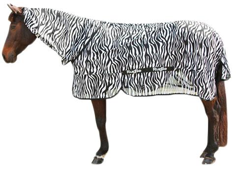 Vliegdeken Zebra incl. nekdeel 205cm
