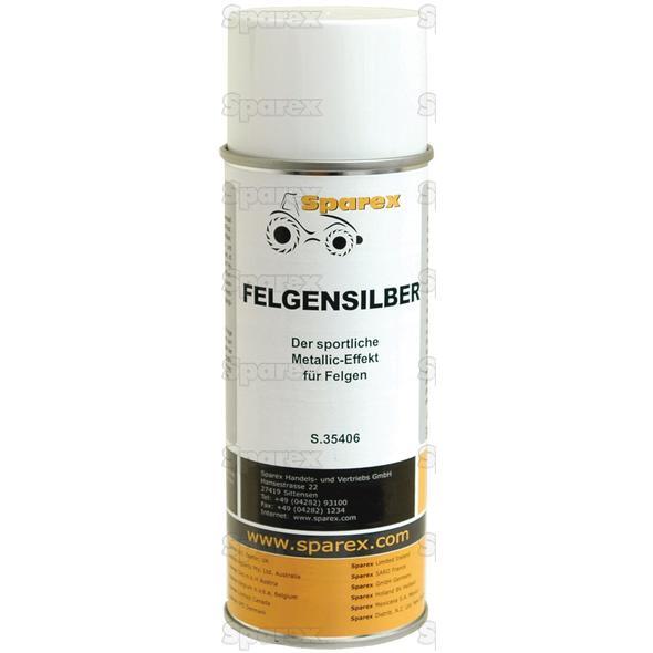Rim Touch up Paint - glans, Zilver 400 ml spuitbus