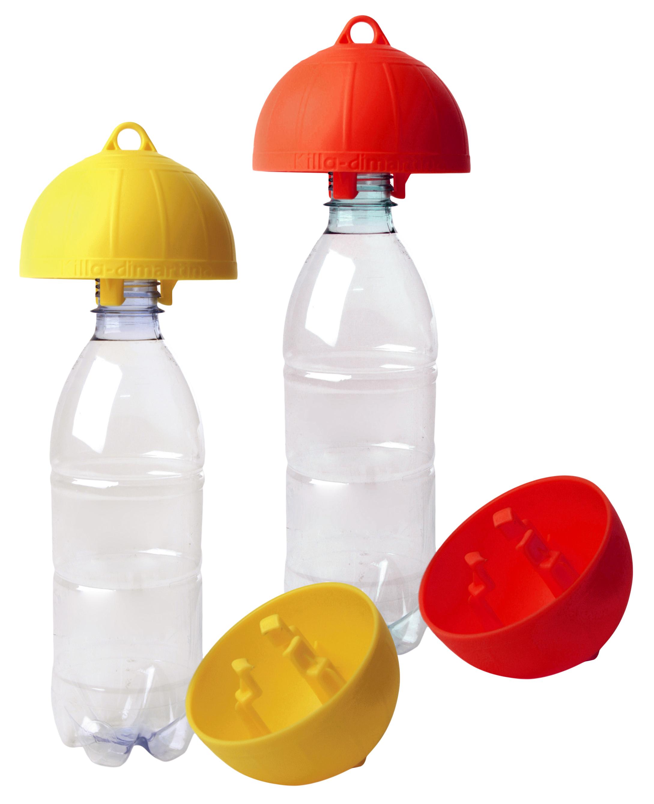 Wespenval op fles Geel (wesp & vlieg)