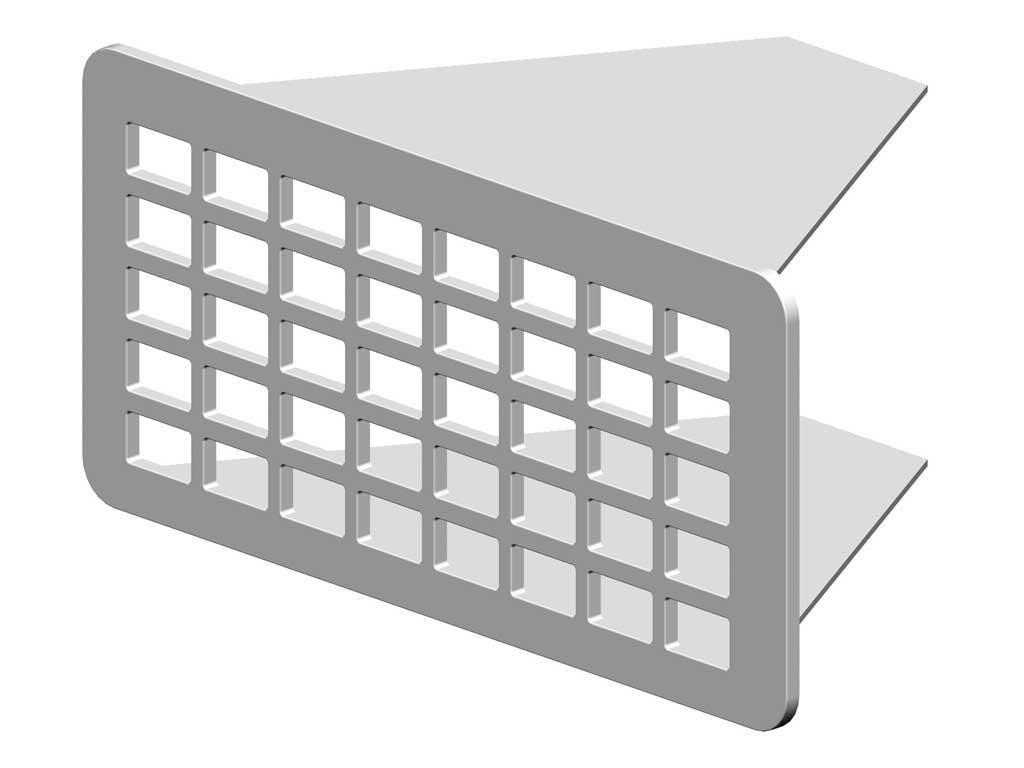 RenoFix Renovatierooster rvs 10,5 x 5 cm