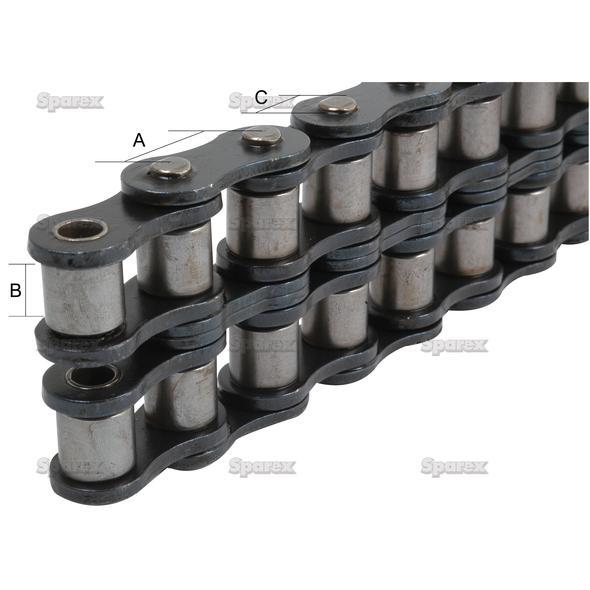 Rolketting - Duplex,  ASA 50-2 (5M)