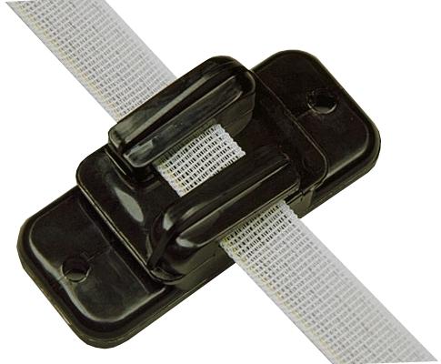 Isolator Lint/koord/draad Zwart tot 20 mm