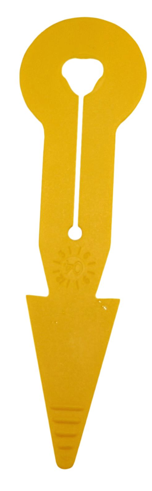 Pijl I+R met gleuf geel
