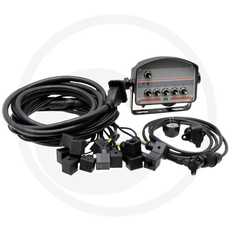 6-knops bedieningskast met kabel