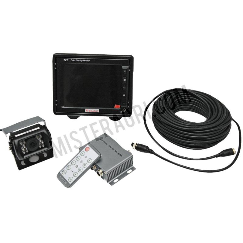 Camerasysteem LCD bedraad 20m