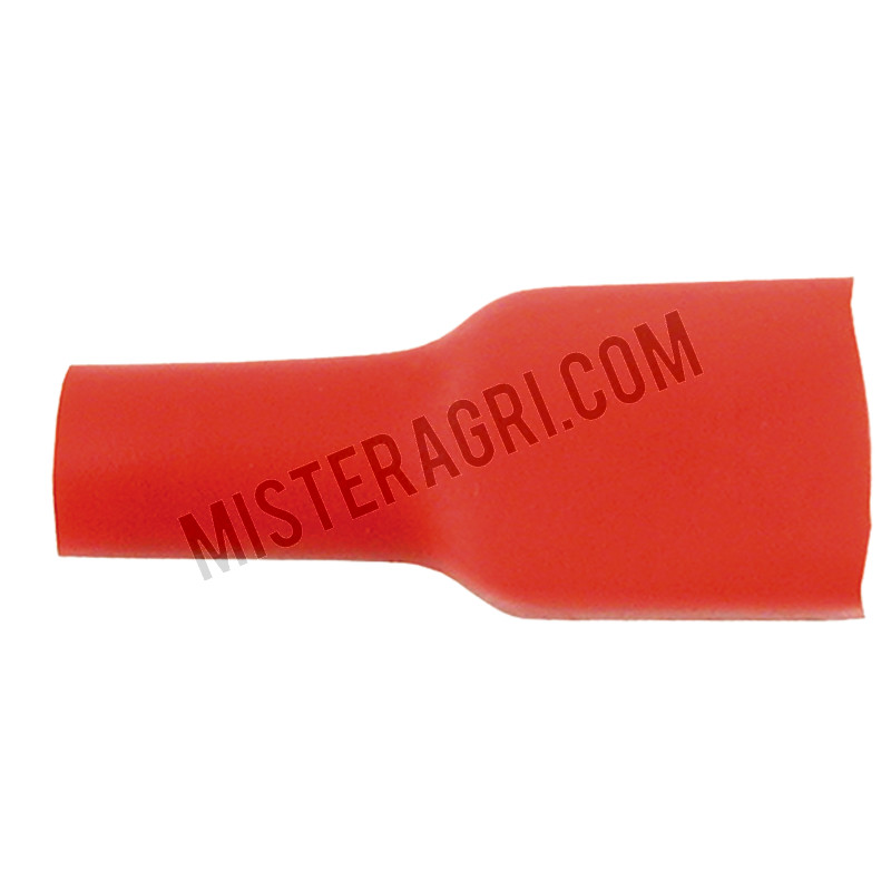 Vlakstekkerhulzen - 6,3 mm, rood, voor kabel 0,5-1,0 mm²