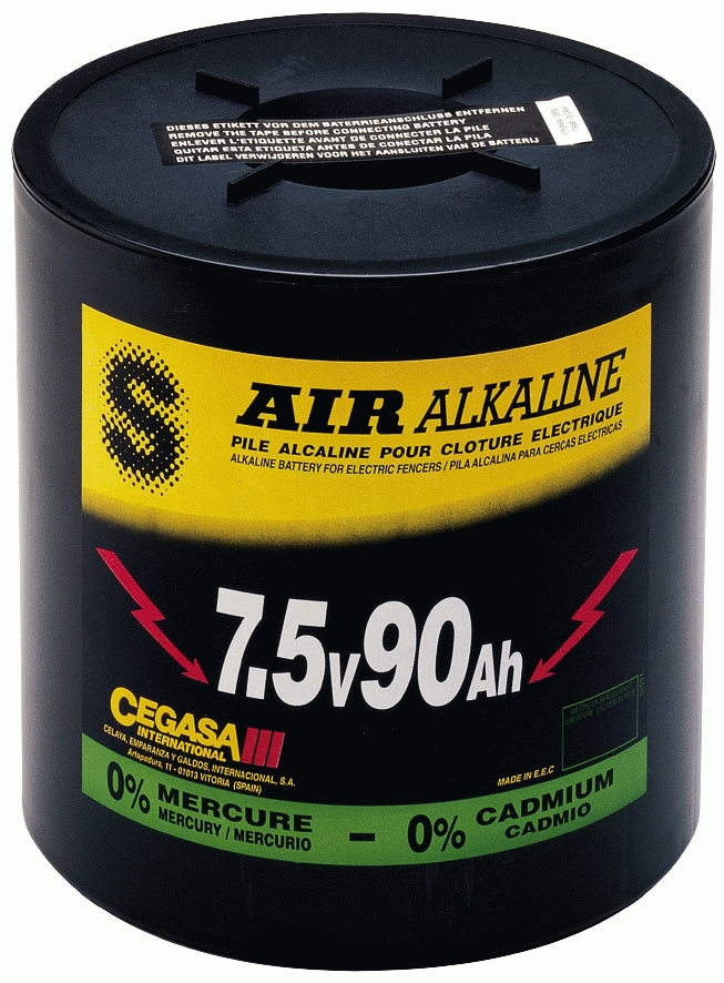 Batterij Durobat rond 7,5V / 90Ah (H17,1 cm x Diam.16,5 cm)