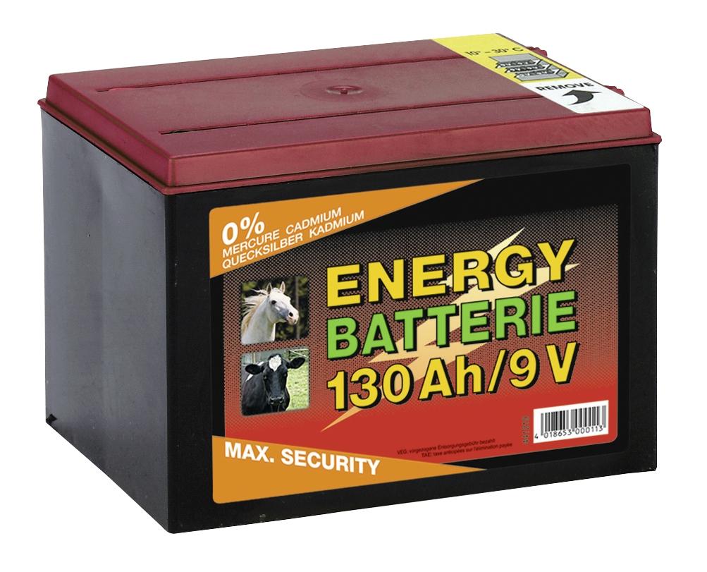 Batterij EG super 9V / 130Ah (H16 x L19 x B13 cm)