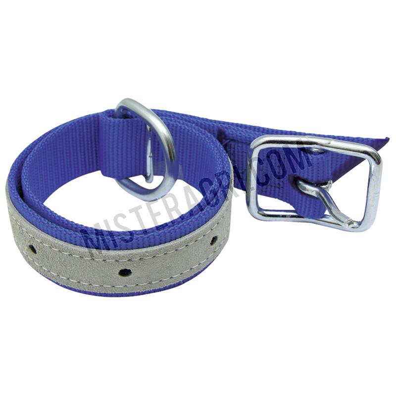 Halsband - voor runderen, met trevira-riem, met D-ring en gesp