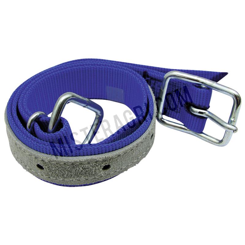 Halsband - voor koeien, met trevira-halsband, met D-ring en gesp
