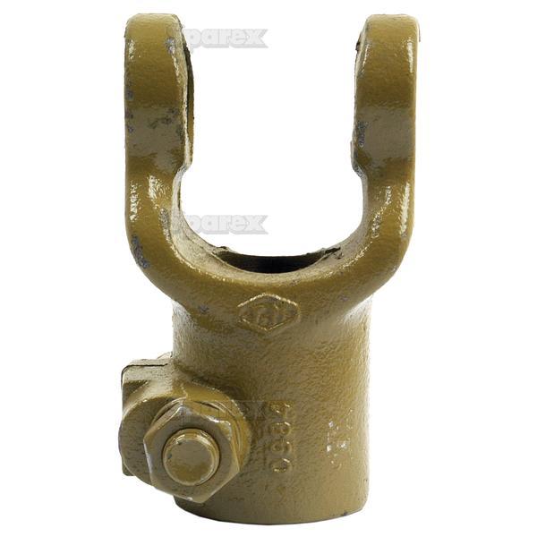 Aftakas Klemboutgaffels (Afm. Kruisstuk: 22 x 54.8mm) Boring Ø1'', Sleutelmaat: 1/4''.