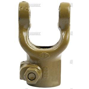 Aftakas Klemboutgaffels (Afm. Kruisstuk: 23.8 x 61.2mm) Boring Ø: 1'', Sleutelmaat: 1/4''.