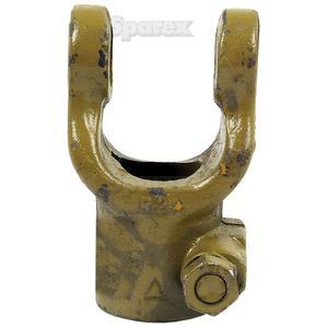 Aftakas Klemboutgaffels (Afm. Kruisstuk: 23.8 x 61.2mm) Boring Ø1 1/4'', Sleutelmaat: 1/4''.