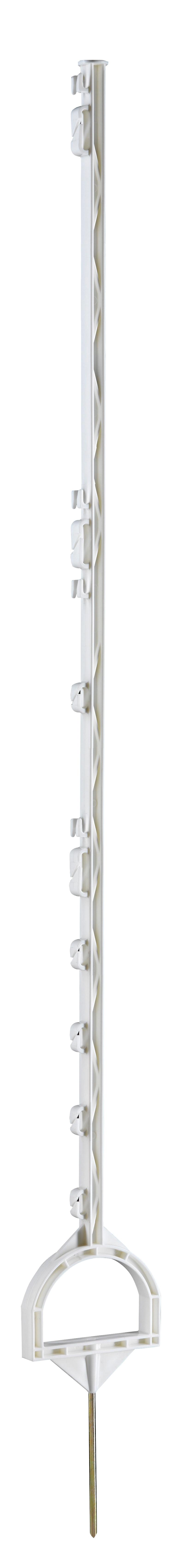 Instappaal met stijgbeugel 158 cm wit