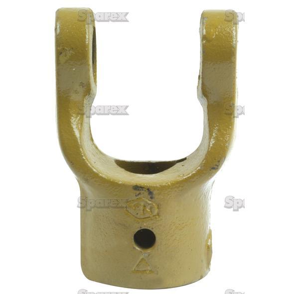 Aftakas Spiebaangaffels met stelbout (Afm. Kruisstuk: 23.8 x 61.2mm) Boring Ø30mm, Sleutelmaat: 8mm.