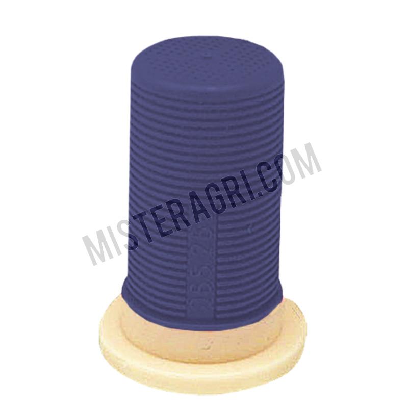 Sproeidopfilter - kunststof, blauw