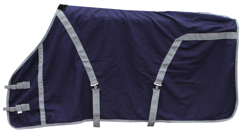 Excellent zomer deken donker blauw/grijs 185cm