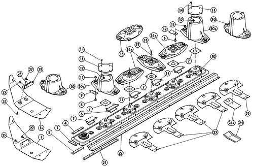 Bevestiging voor binnenzool - Kuhn GMD 400/500/600 (orig.)