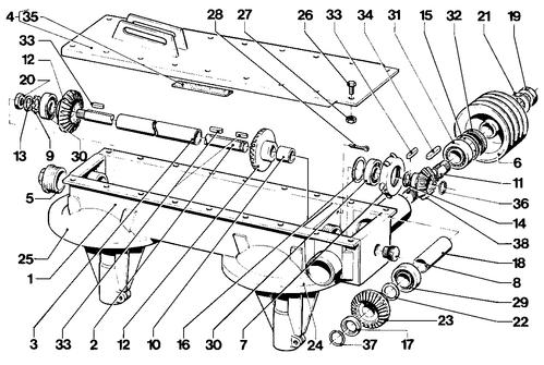 Horizontale as om - PZ CM 165/166/167 (orig.)