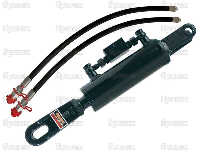 Hydraulic Levelling Box met Slangen, Min. Lengte: 720mm, Cylinder binnen Ø: 105mm.