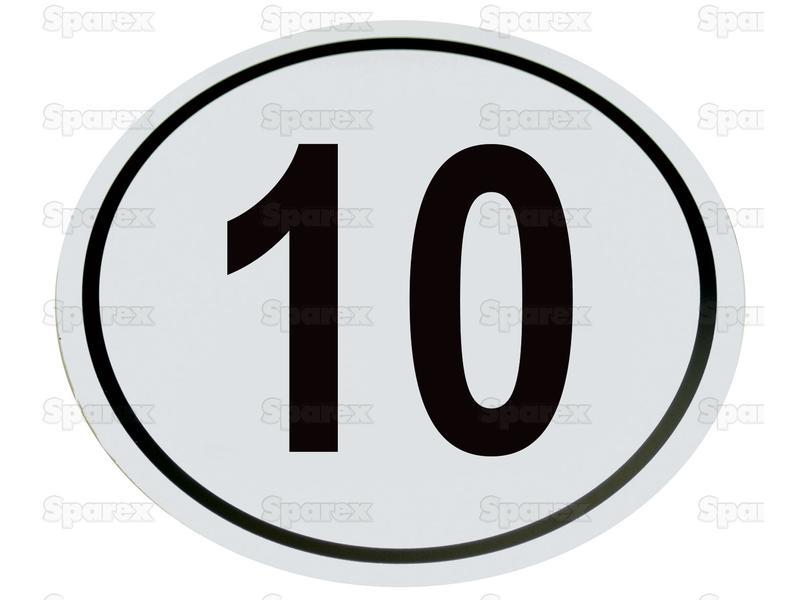 Kilometerschild PVC 10 Km/h