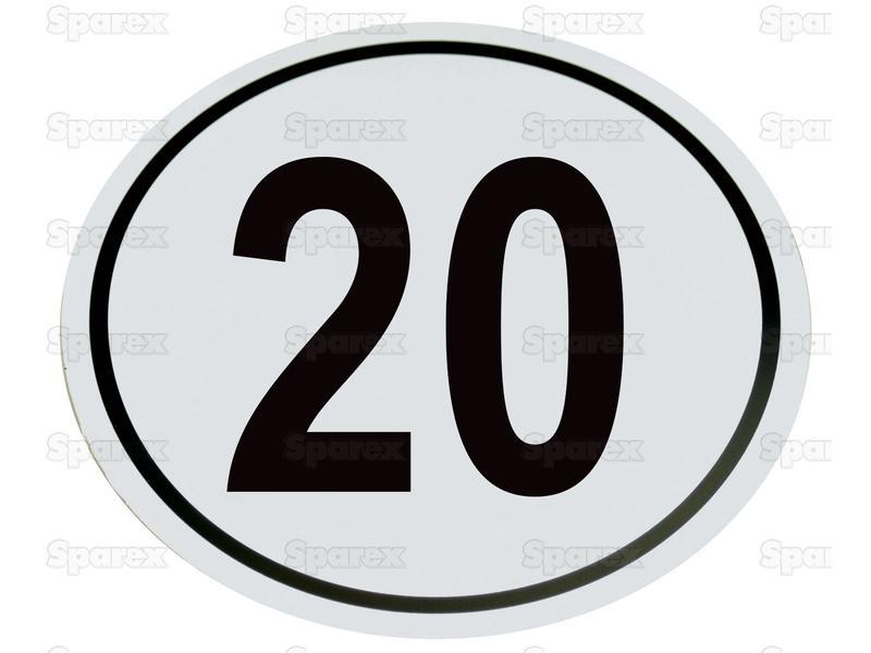 Kilometerschild PVC 20 Km/h