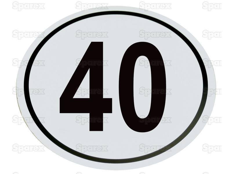 Kilometerschild PVC 40 Km/h