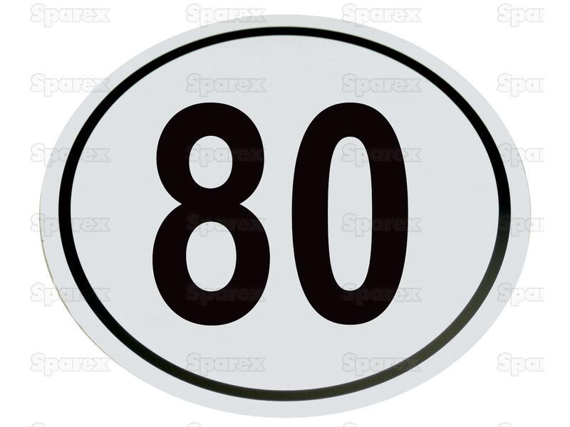 Kilometerschild PVC 80km/h