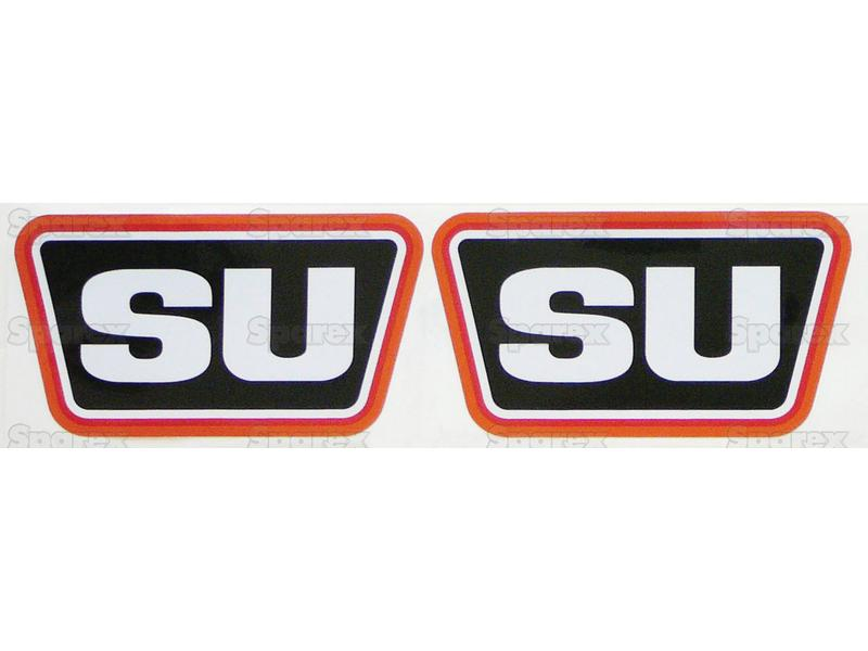 DECAL SET (2)-'SU' (BLK/RED)